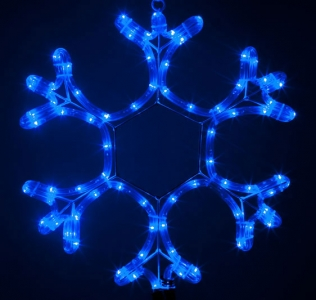 Гирлянда MOTIF Snowflake DELUX 40см  (Мотив Снежинка) LED синий