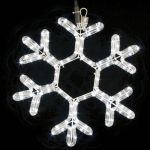 Гирлянда MOTIF Snowflake DELUX 40см  (Мотив Снежинка) LED белый