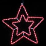 Гирлянда MOTIF Star DELUX 58см (Мотив Звезда) LED красный