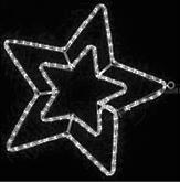 Гирлянда MOTIF Star DELUX 58см  (Мотив Звезда) LED белый