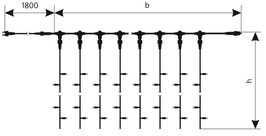 Схема гирлянды DELUX Curtain